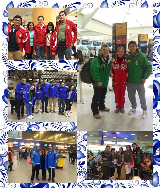 Foto de nuestros estudiantes de México, Perú, Colombia, Brasil y Ecuador durante su viaje a Rusia este Enero 2016
