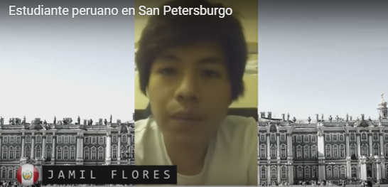 Estudiante de Ayacucho – Perú en San Petersburgo