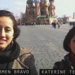 Estudiantes ecuatorianas en Universidad de Investigación de Construcción Civil de Moscú