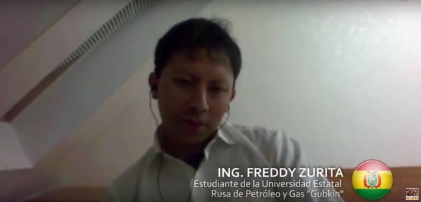 Ing. Freddy Zurita (Bolivia) – Maestría en Ingeniería de Petróleo y Gas en Moscú, Rusia.