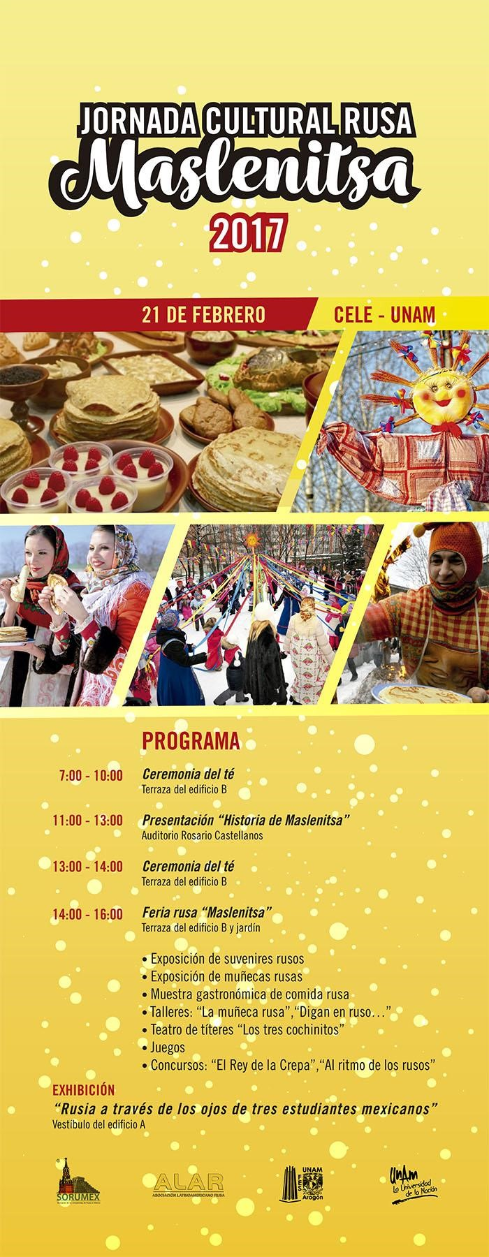 Programa de la Jornada Cultural Rusa del Centro de Lenguas Extranjeras