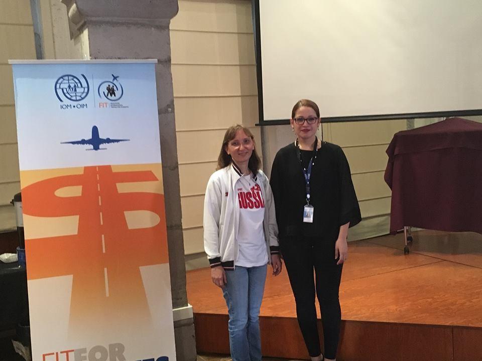 Agradecemos las atenciones de Mónica González Batista, Coordinadora de Movilidad Internacional de OIM durante la sesión informativa brindada.