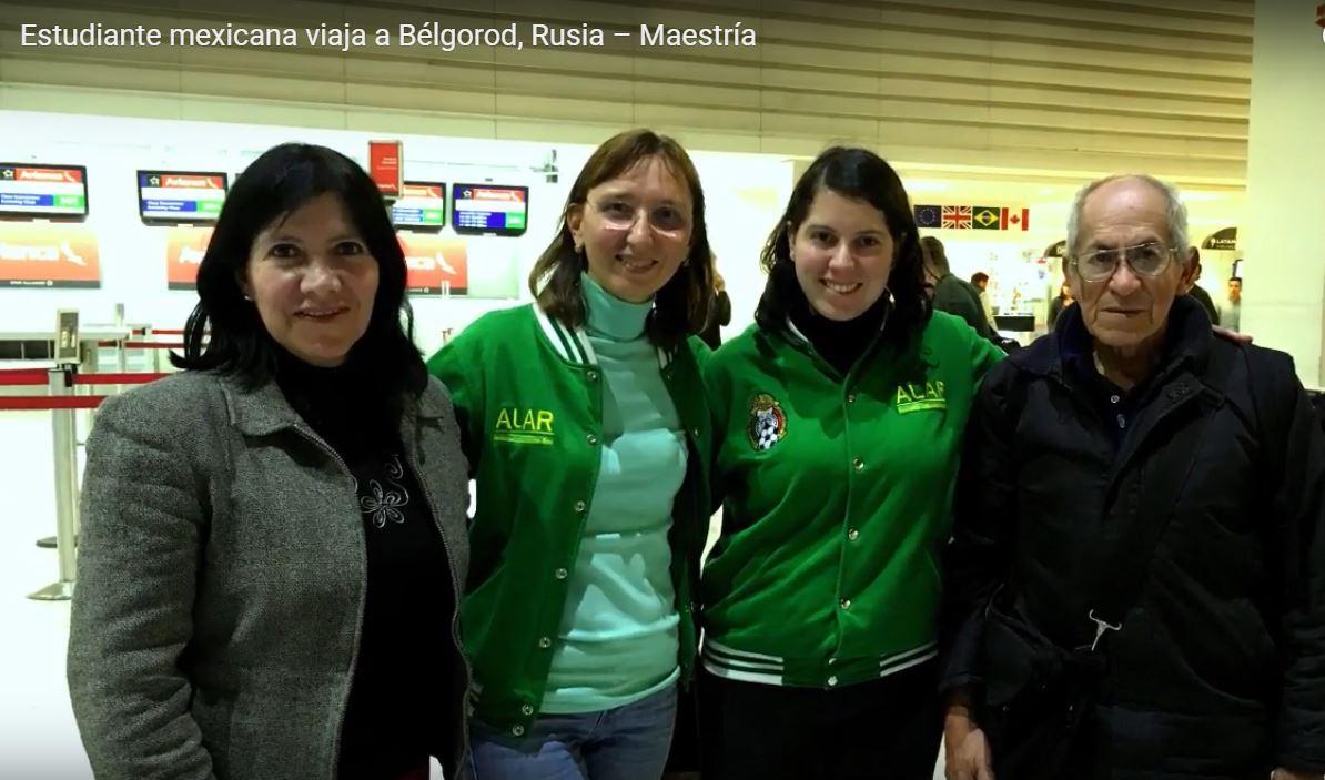 Karen Beltrán (México), Maestría en Universidad Federal de los Urales (URFU), Rusia