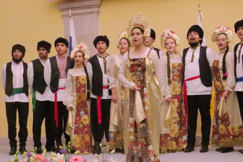 Concierto preparado por estudiantes de idioma ruso de la UAZ
