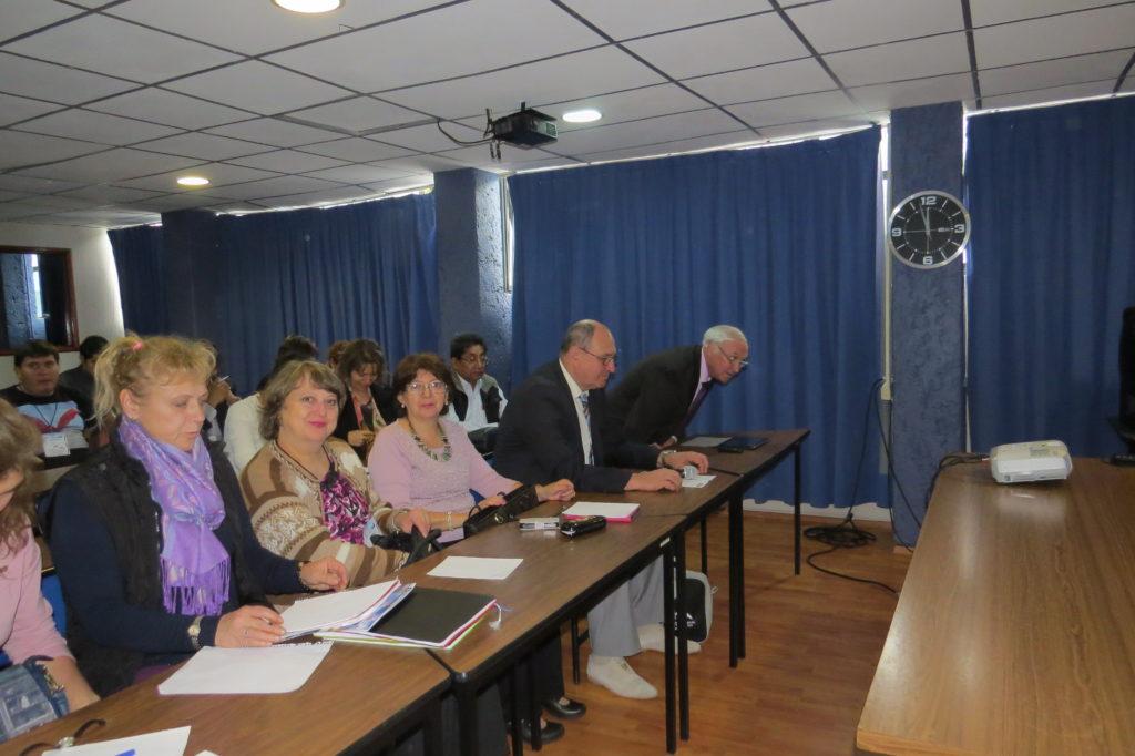 Video conferencia organizada por profesores de MGU y RUDN, en el marco de actividades para la capacitación de los profesores del idioma ruso. El tema central fue la preparación de los estudiantes a la certificación del idioma ruso