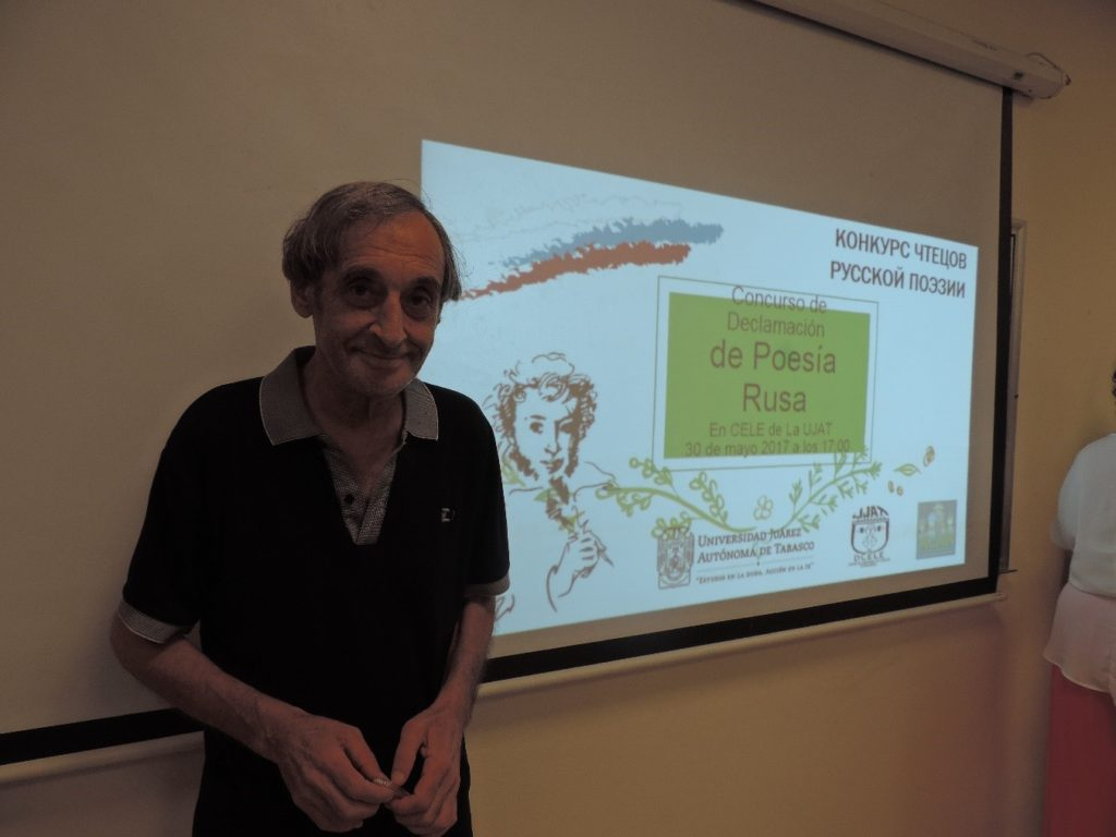 El poeta ruso Igor Pototsky en la Universidad Juárez Autónoma de Tabasco