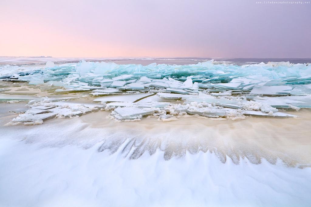 Las olas congeladas de Rusia: un espectáculo de la naturaleza