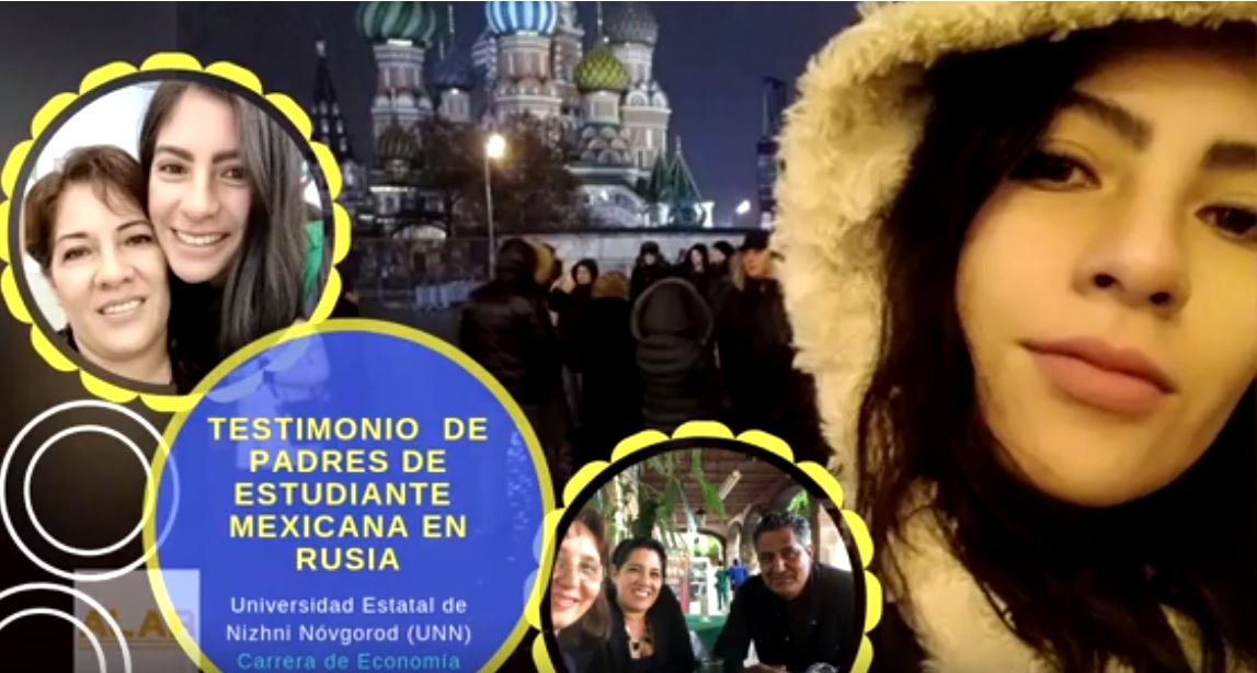 Testimonio de Sr Paulino y la Sra Rosangela, padres de María Fernanda (México) estudiante de economía en la Universidad Estatal de Nizhni Nóvgorod (UNN)