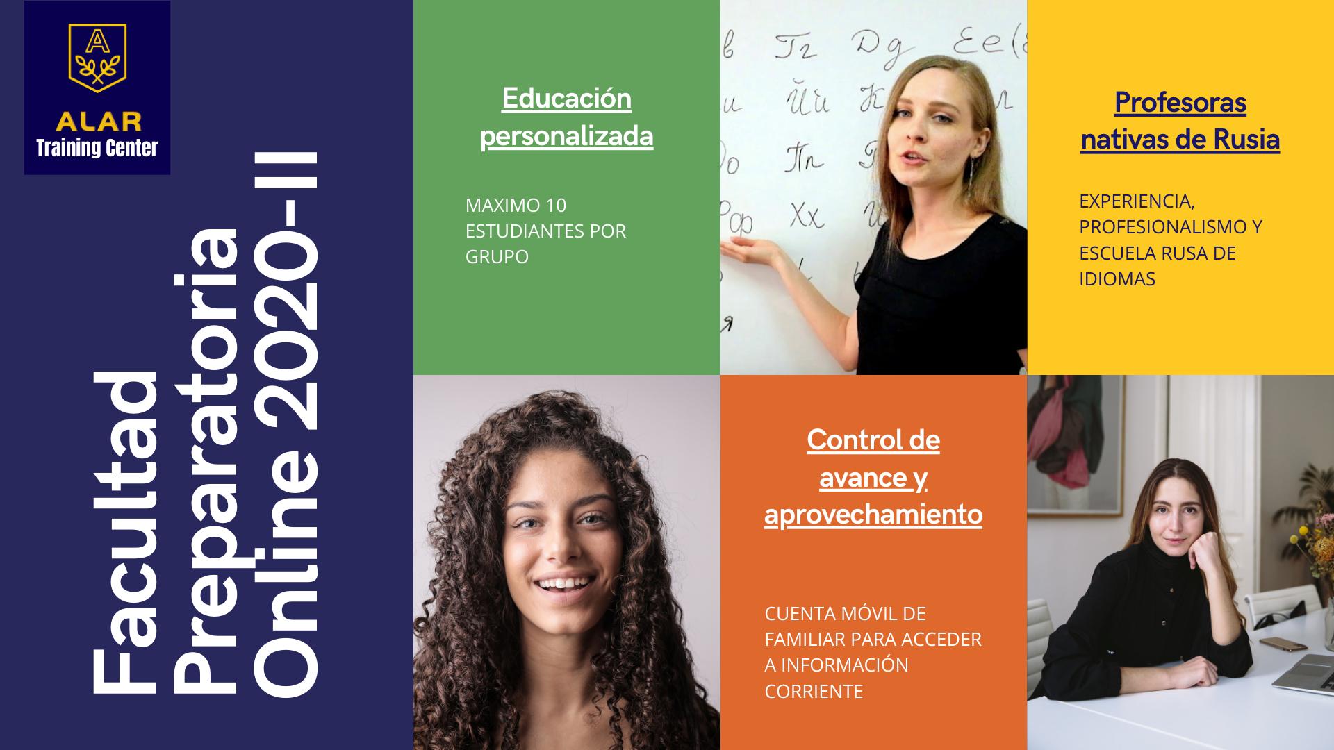 Anuncio importante: ALAR continúa las inscripciones para su Facultad Preparatoria Online 2020-II para poder estudiar en Rusia.