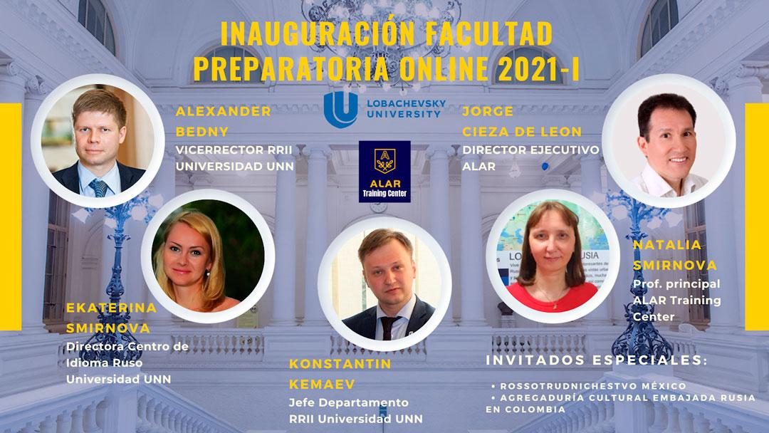 ALAR inaugura el año académico 2021-2022-I – Facultad Preparatoria Online